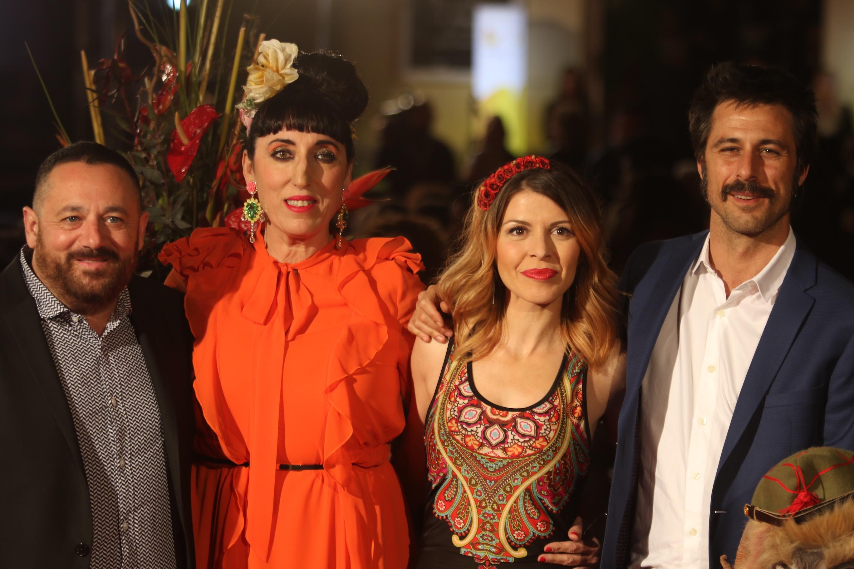 Con la presencia del director Ignacio Nacho, los actores Pepón Nieto, Rossy de Palma, Hugo Silva, Natalia Roig, Salva Reina, Mara Guil el equipo de la película 'EL INTERCAMBIO'. en el 20 festival de cine de Málaga