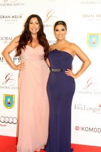 Maria Bravo (ex de Bruce Willis) y Eva Longoria en la gala global Gift en Marbella