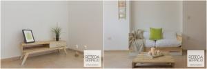 3. Mesa y Sofa fabricados con Madera Reciclada