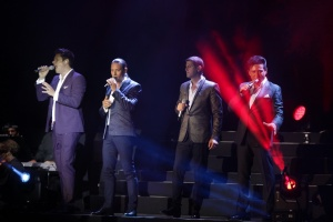 """Il Divo "" This quartet with members of different nationalities has presented us their first album entirely in Spanish at the Festival : Starlite 2016"