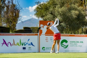 20/09/2016 Ladies European Tour 2016: Andalucía Costa del Sol Open de España Femenino, Aloha Golf Club, Marbella, Spain 22-25 Sept. Azahara Munoz of Spain during a practice round. Credit: Tristan Jones