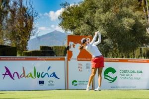 20/09/2016 Ladies European Tour 2016: Andalucía Costa del Sol Open de España Femenino, Aloha Golf Club, Marbella, Spain 22-25 Sept. Azahara Munoz of Spain during a practice round. Credit: Tristan Jones