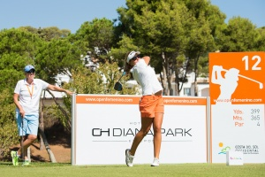 20/09/2016 Ladies European Tour 2016: Andalucía Costa del Sol Open de España Femenino, Aloha Golf Club, Marbella, Spain 22-25 Sept. Caroline Hedberg of Spain during a practice round. Credit: Tristan Jones