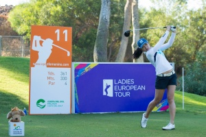 20/09/2016 Ladies European Tour 2016: Andalucía Costa del Sol Open de España Femenino, Aloha Golf Club, Marbella, Spain 22-25 Sept. Defending champion, Connie Chen of South Africa, during a practice round. Credit: Tristan Jones
