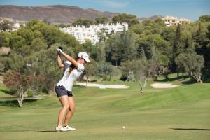 20/09/2016 Ladies European Tour 2016: Andalucía Costa del Sol Open de España Femenino, Aloha Golf Club, Marbella, Spain 22-25 Sept. Nuria Iturrios of Spain during a practice round. Credit: Tristan Jones