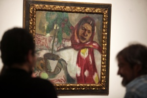 """Collection of the Russian Museum in Malaga hosts ' Chagall and his Russian contemporaries ' in the exhibition are 17 works by the master and Russian painter Marc Chagall.Esta work has the title of """"Alla """" Portrait of Woman of the Year 1910"""
