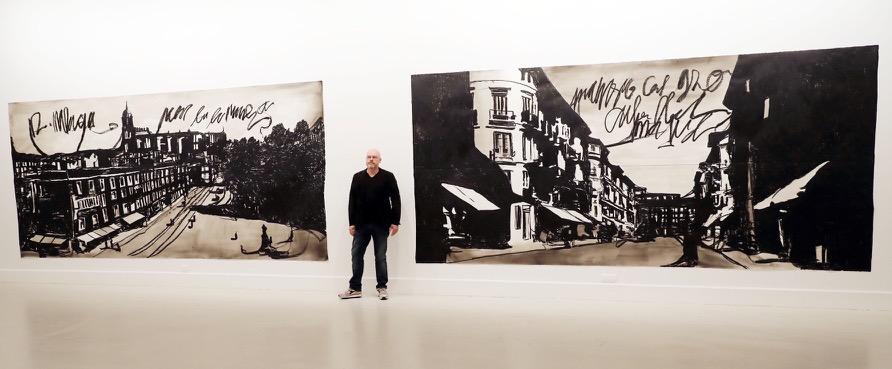 //Andalucia// 20-1-2017 Malaga edil de Cultura, Gemma del Corral, presentan la muestra del artista Marcel Van Eeden. En el CAC. Previamente, la sala abre para los gráficos. Al finalizar el acto el regidor atiende a los medios. Fotografo lorenzocarnero