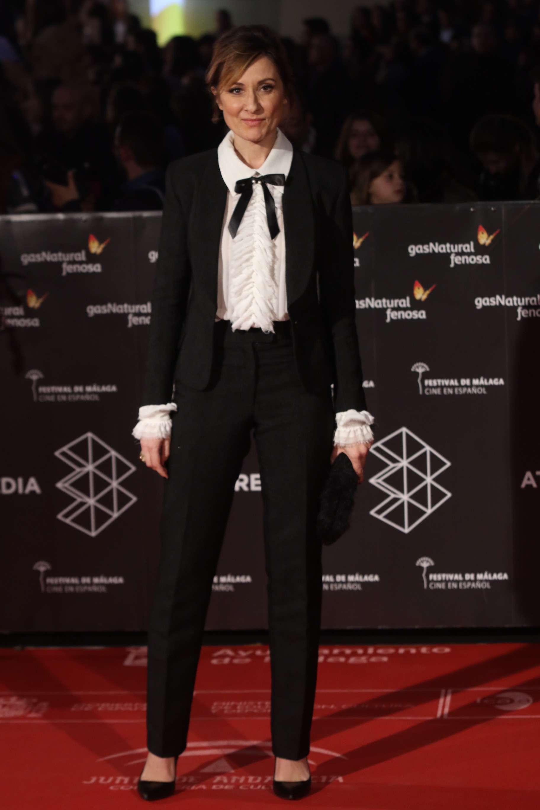 Natali Pozas posa en alfombra roja de la 20 edicición del festival de cine en español en Malaga en la clausura