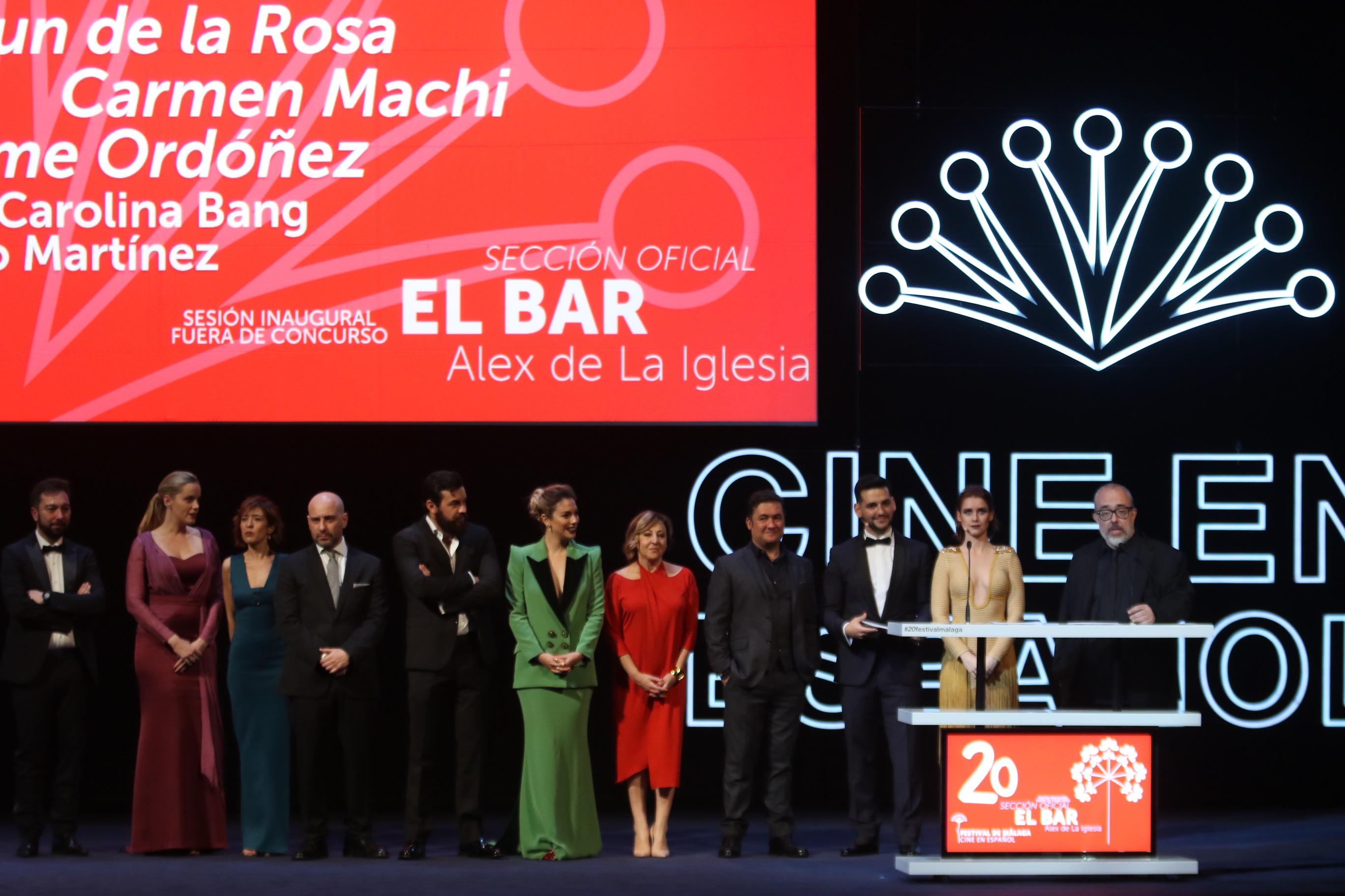 diferentes momentos de la gala de inauguración del festival del cine de Málaga 2017