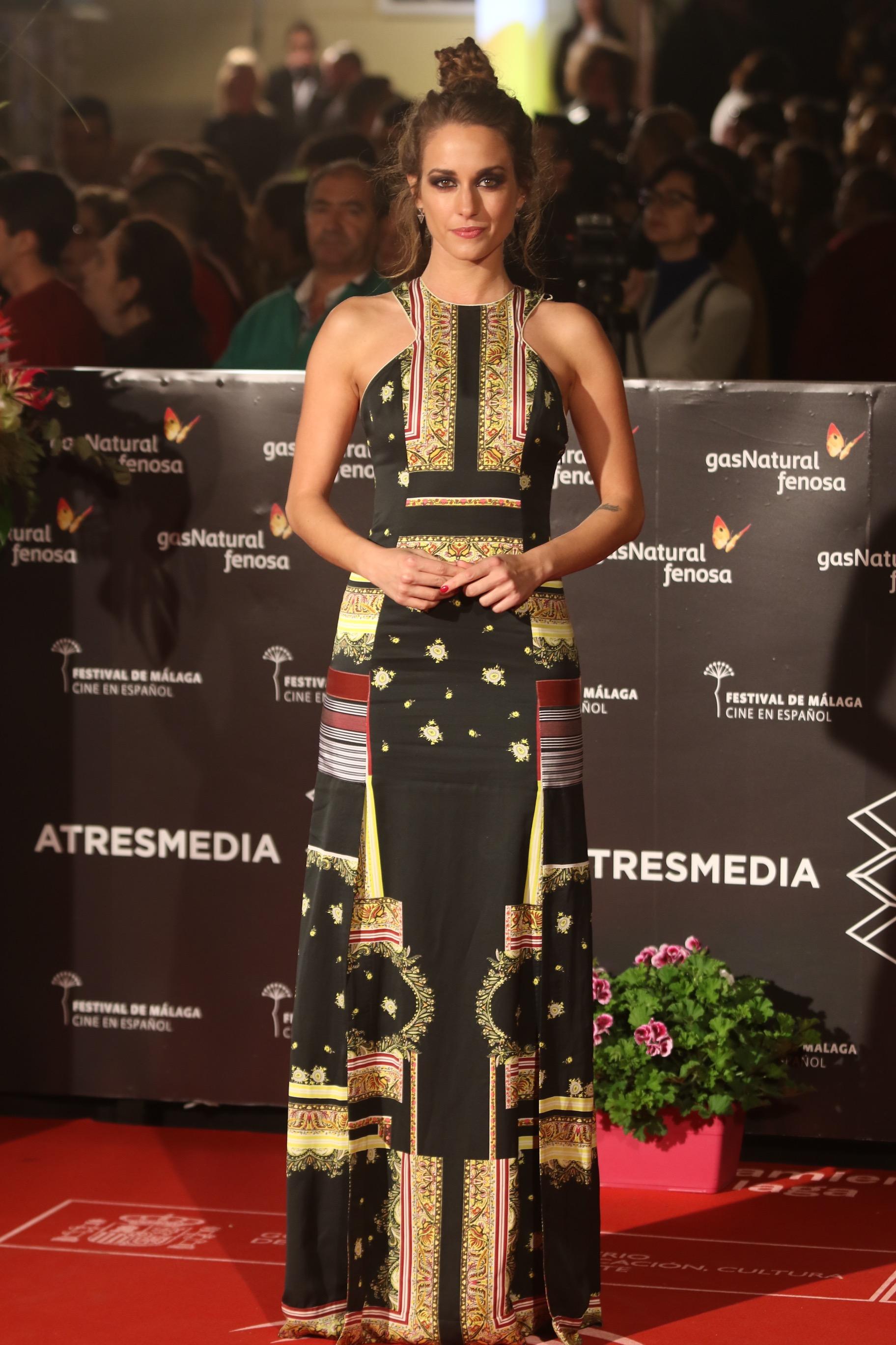 Silvia Alonso pasea por la alfombra roja del festival de cine de Málaga en español en la 20 edición el sábado