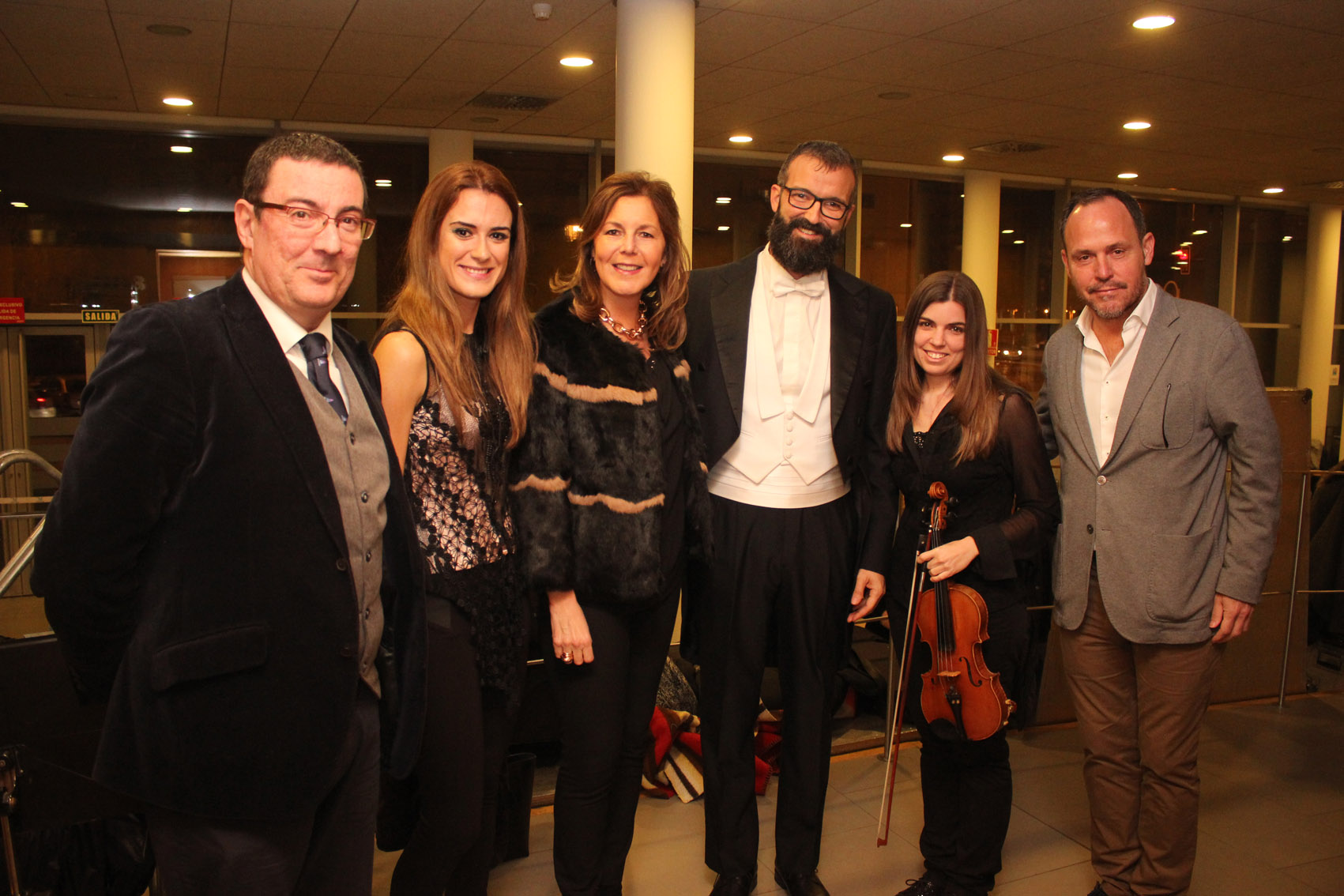 Luis Naranjo, Elisa Urrestarazu, Rosa Vera, Diego Jesús González, Alicia Ruiz y Juan Maldonado
