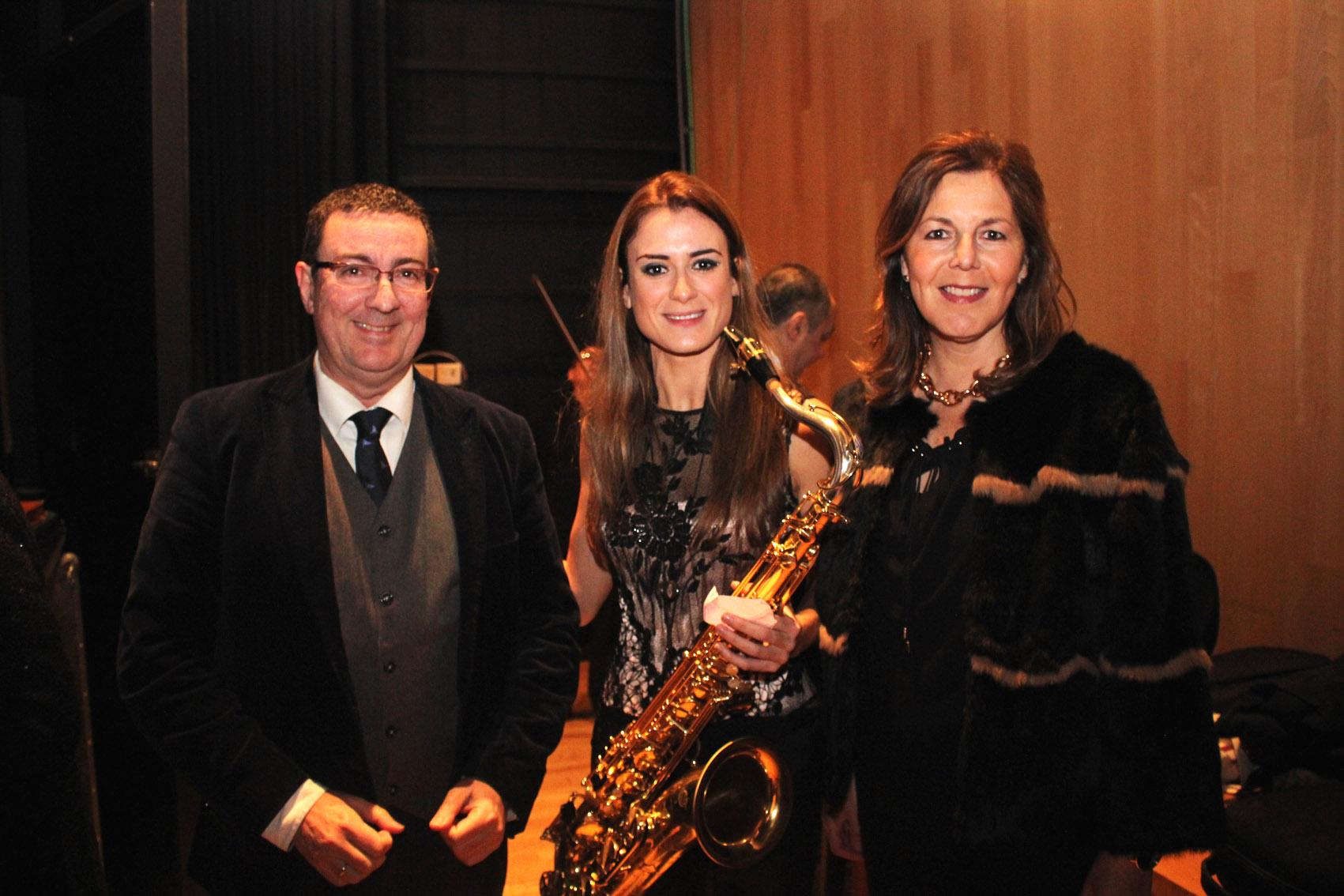 Luis Naranjo, Elisa Urrestarazu y Rosa Vera
