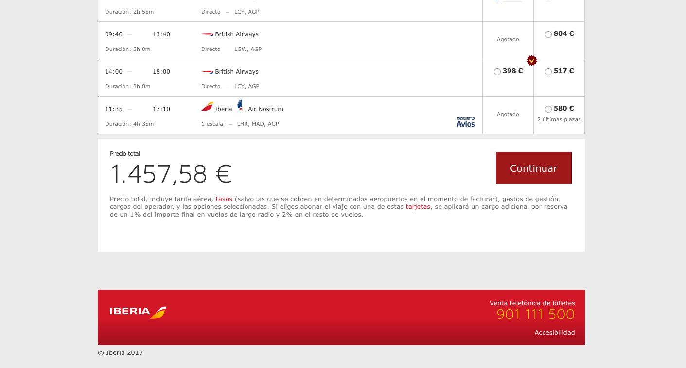 Las webs de vuelos (que no se consideran los cost) tienen precios más altos pero incluyen en ellos las tasas, equipajes, y demás servicios.
