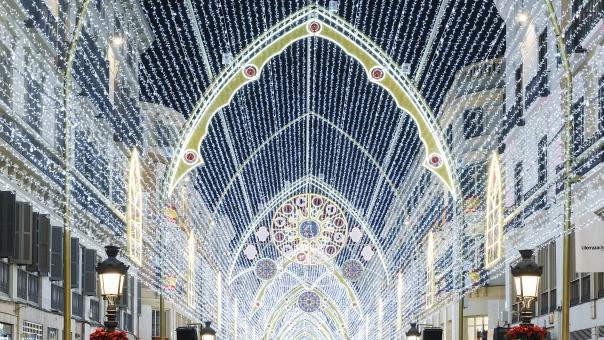 alumbrado de navidad de Málaga
